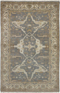 Hand-knotted-Carpet-5-039-10-034-x-8-039-11-034-Royal-Ushak-Traditional-Wool-Rug