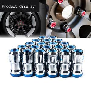 M12x1-5mm-CONCEALED-LOCK-NUTS-Plum-Car-Hub-Anti-theft-Wheel-Nuts-Screw-Blue