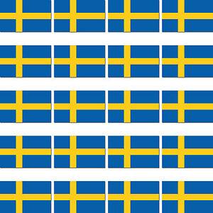 20 Pièces De Suède Scandinavie Pays Couleurs Drapeau Modélisme Autocollant AgréAble Au Palais