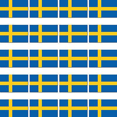 Romantico 20 Pezzi Svezia Scandinavia Bandiera Paesi Modellismo Sticker Adesivo