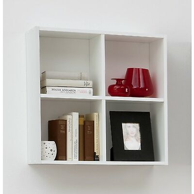 """Dori"" Squares Wall Shelf / Bookcase. Display Shelving Unit. Choice of Colour."
