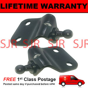 PAIR-GAS-STRUT-END-FITTINGS-10MM-BALL-PIN-BRACKET-BLACK-MULTI-FIT-GSF33