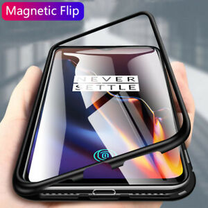 official photos b8620 0f4b9 Details about For OnePlus 6 6T 360 Full Magnetic Adsorption Metal Case 9H  Tempered Glass Cover