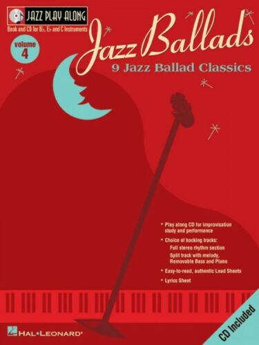 Jazz Ballads Jazz Play Along Book and CD NEW 000841691