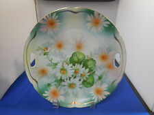 Vintage Hand Painted Key Hole China Plate Germany Daisies