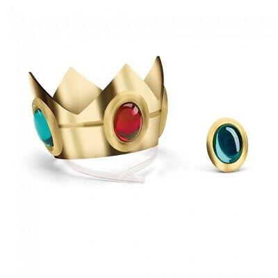 Princess Color Pesca Corona & Amuleto Super Mario Bros Costume Donne Adulte Lucentezza Luminosa