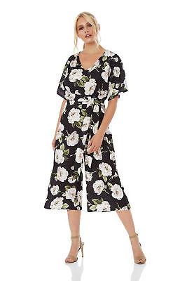 Roman Originals Women/'s Floral Jersey Stretch Jumpsuit