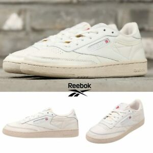 Reebok-Classic-Club-C-85-Vintage-Shoes-Sneakers-Ivory-BS8243-SZ-5-12-5-Limited