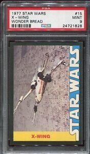 1977 Topps Star Wars Wonder Bread Trading Card #15 X-WING PSA 9 MINT