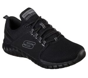 Black-Skechers-Shoes-Men-039-s-Memory-Foam-52821-Sport-Train-Walk-Mesh-Lace-Comfort