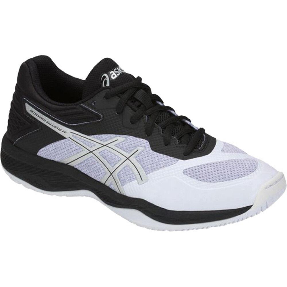 ASICS Wouomo Netburner Ballistic FF Volleyball scarpe - bianca nero, 9