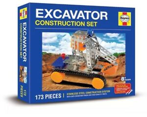 Construction-Set-Excavator-173Pieces-8-Years-NEW-Ideal-Gift-Idea