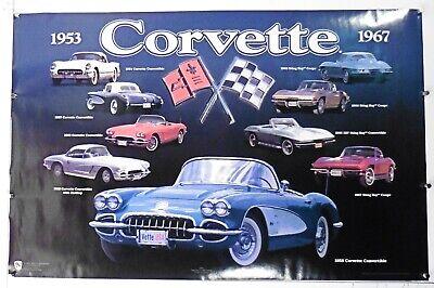 "Chevrolet Corvette Collage vintage poster 22/"" X 34/"" NOS b638"