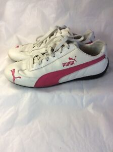 Details about PUMA pink/white LEATHER Womans SPEED CAT Athletic SHOES 9m  Sneaker TENNIS Rare