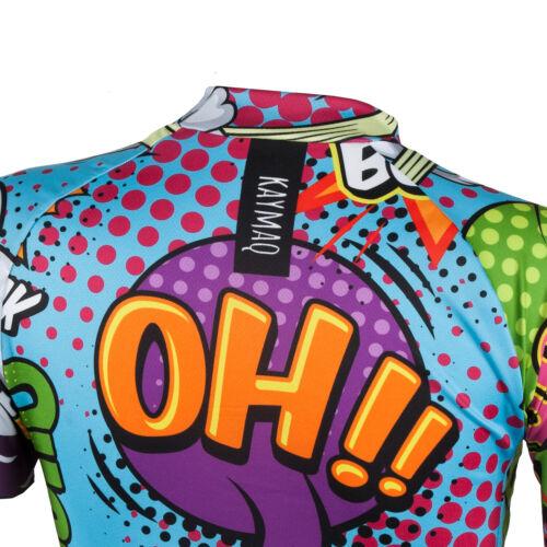 KAYMAQ W27 Damen Fahrradtrikot Radtrikot Trikot Kurzarm Hemd Bike T-shirt