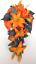 17-piece-Wedding-Bouquet-Bridal-Silk-Flowers-Bouquets-ORANGE-LILY-PURPLE-PLUM thumbnail 4