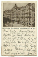Baden Baden Sofienallee Holland-Hotel 1923 in die Schweiz