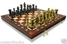 Luxury STAUNTON - GOLD Edition Wooden Chess Set  40x40cm & Weighted Pieces !!!