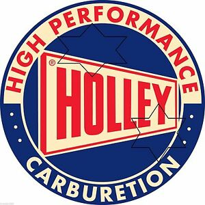 VINTAGE-HOLLEY-CARBY-GASOLINE-PETROL-DECAL-STICKER-9-INCH-DIA-230-MM-HOT-ROD