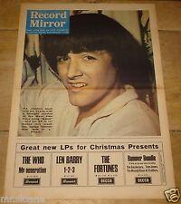 RECORD MIRROR 11 DEC 1965 PJ PROBY TOM JONES BEATLES FONTELLA BASS THE TOYS