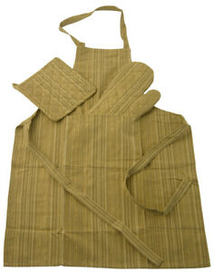 DISRAELI-Set-Cucina-Grembiule-Guanti-e-Presine-Verde-e-Oro-60x80cm