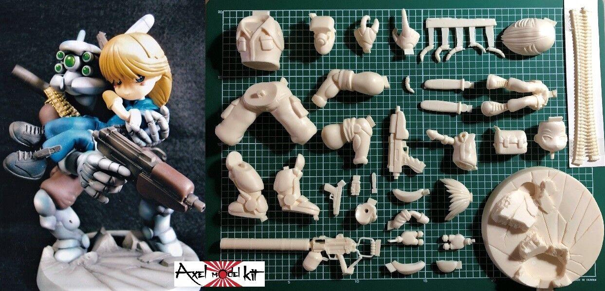 ANIME MODEL RESIN KIT - SD APPLESEED DUNAN & BRIAREOS