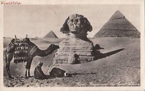 Postcard-RPPC-Prayer-Near-Great-Sphinx-Cairo-Egypt