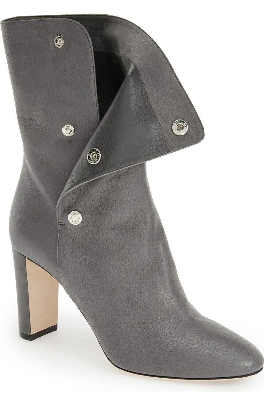 Zapatos De de Cuero Jimmy Choo dayno Mitad de De Pantorrilla Botas Gris Mist Nuevo En Caja Talle 39.5 1425 bea7cf
