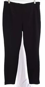 Ivanka-Trump-Womens-Tapered-Ankle-Pants-Career-Stretch-Black-Sz-4-Small