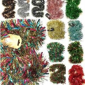 2M-6-5Ft-Luxury-Thick-Chunky-Tinsel-Chrismas-Tree-Decoration-X-039-mas-Garland