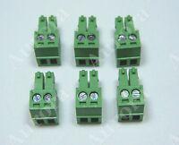Set Of 6 / 2 Pin - 3.5mm / Pluggable Connector - Terminal Block - Phoenix Plug