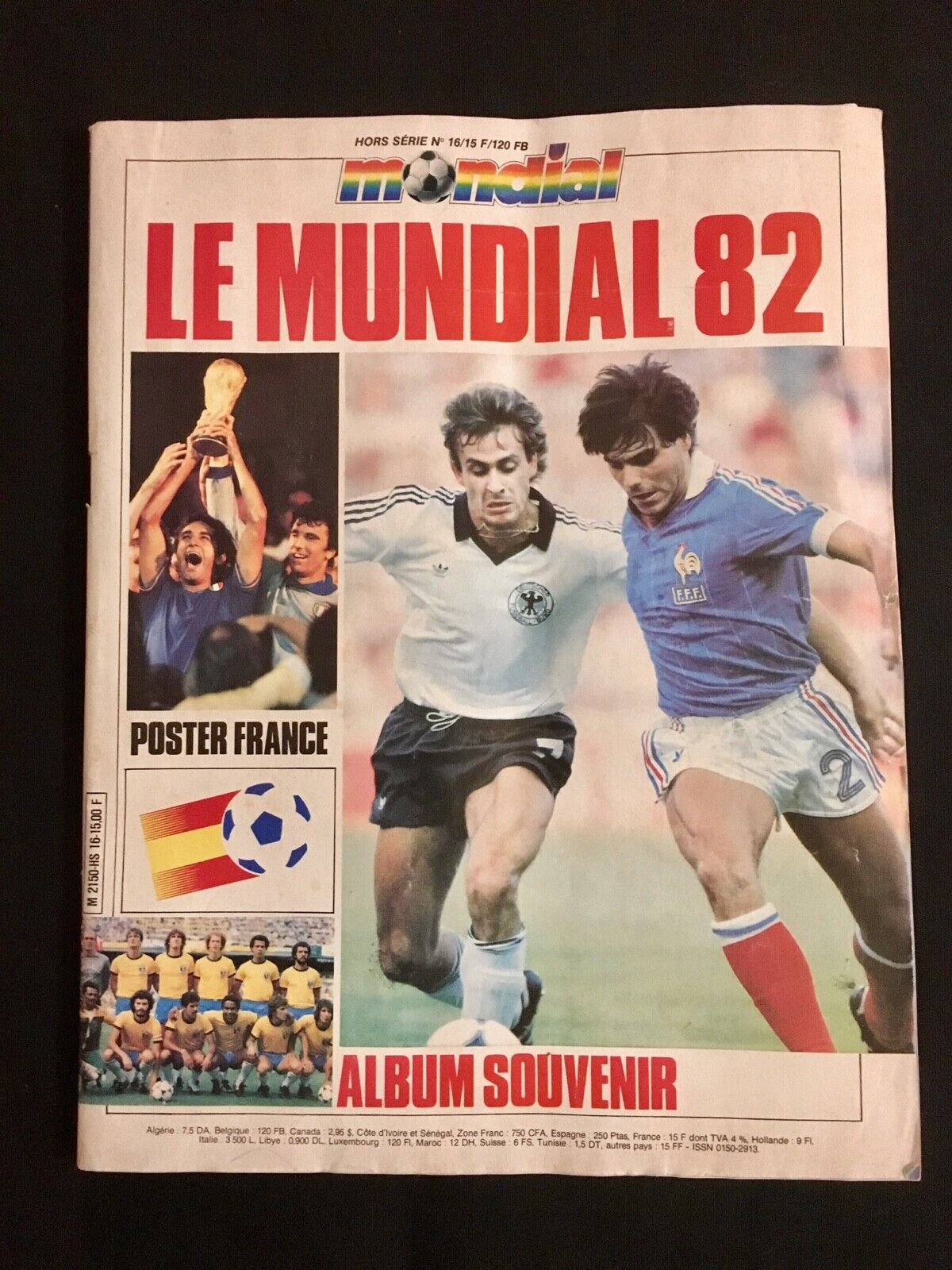 MAGAZINE MONDIAL Nº 16 15 LE MUNDIAL 82 - ALBUM SOUVENIR 1982 ESPAGNE 1982