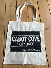 Murder She Wrote  Angela Lansbury Cabot Cove Tote Shop Carry Bag