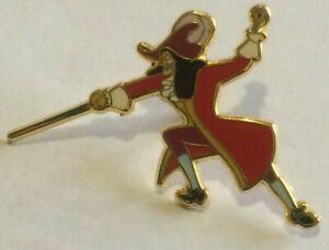 tiny-Captain-Hook-Disney-Shopping-LE-300-with-sword-Villain-Peter-Pan-pin-N