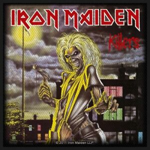 IRON-MAIDEN-Killers-sew-on-patch-100mm-x-100mm-FREE-UK-P-amp-P-gift