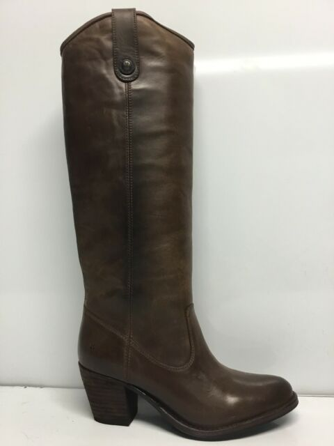 Frye Women's Boots Pull On Western Brown Leather Size 7.5…