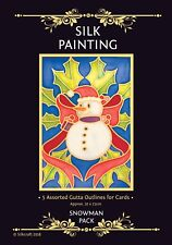 Silkcraft Silk Painting Gutta Outlines - Card Making - Snowman Pack (Pack of 5)