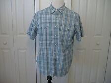 Polo Ralph Lauren Classic Western Mens XL s/s Pearl Snaps Plaid Shirt