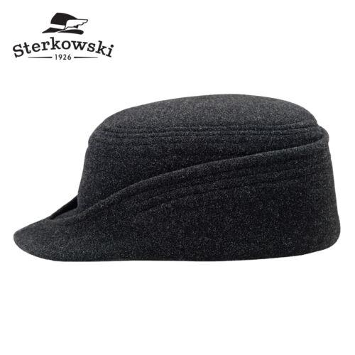 Sterkowski ALPINE Wool Winter Mountain Cap Traditional Ski Warm Newsboy Vintage