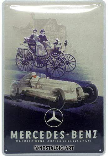 Mercedes-Benz Historisch Auto Medium Metall Schild 200mm x 300mm Na