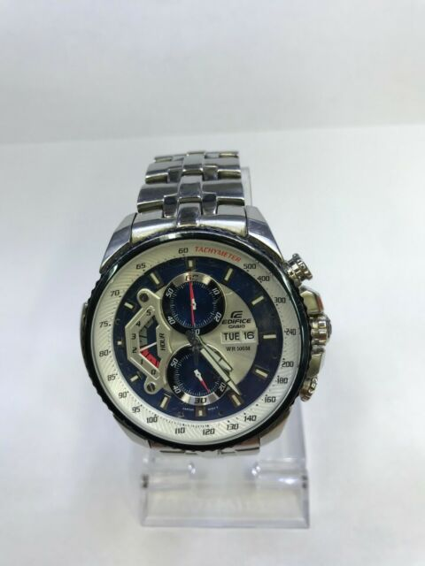 Casio Edifice Wr100m Quartz Chronograph Mens Casual Watch Efr 534d