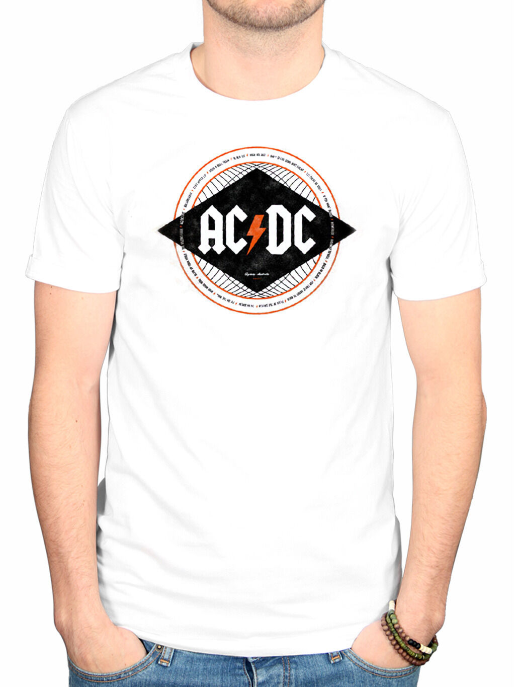 Officiel AC/DC Diamond T-shirt BRIAN JOHNSON LET THERE BE BE THERE ROCK Stiff Upper Lip 73f591