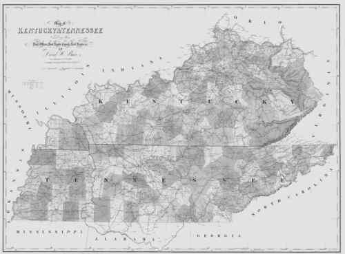1839 TN MAP Baxter Bedford Beech Creek Grove Belle Meade Bells Tennessee History