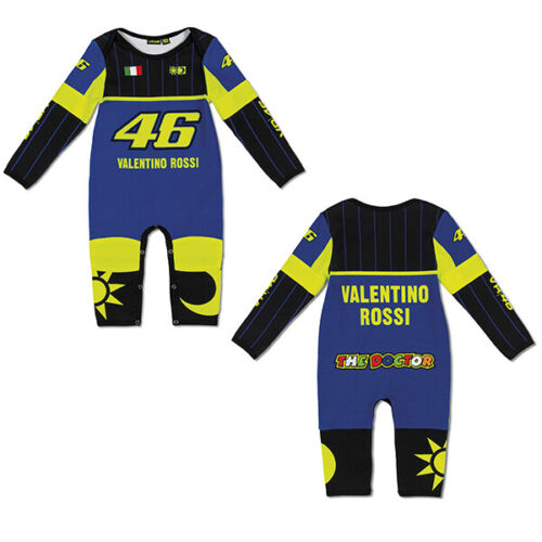 VR46 BABY GROW SUIT OVERALL Replica Blue Official Valentino Rossi Merchandise