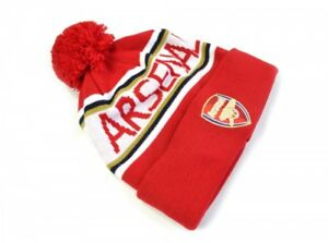 2ab44c272ac Image is loading Official-Embroidered-Arsenal-FC-BOBBLE-Crest-Knitted-Cuff-
