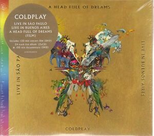 Coldplay-A-Head-Full-Of-Dreams-Live-in-Buenos-Aires-San-Paulo-2CD-2DVD-NEW