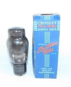 NIB Crosley 6B4G (6v octal 2A3) amplifier tube made by RCA.  TV-7 tests NOS.