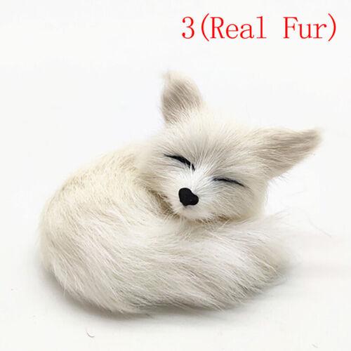 Simulation Fox ornaments For Home Decoration Birthday Gift Furs FOX Plush Toy P*