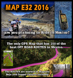 image is loading map e32 topo map of mexico for offroad