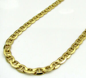 26-034-3-5mm-10k-Yellow-Gold-Tight-Mariner-Anchor-gucci-Chain-Necklace-Mens